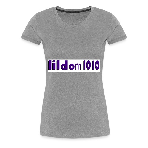 lildom 1010 purple and bLACK - Women's Premium T-Shirt