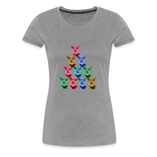 Corgi Dog Funny Pyramid - Women's Premium T-Shirt