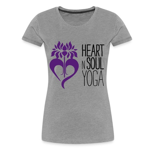HeartNSoulYoga Logo Stacked - Women's Premium T-Shirt