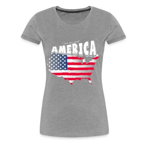 i love my graet america - Women's Premium T-Shirt