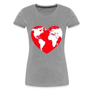 HEART LOVE PLANET MOTHER EARTH - Women's Premium T-Shirt