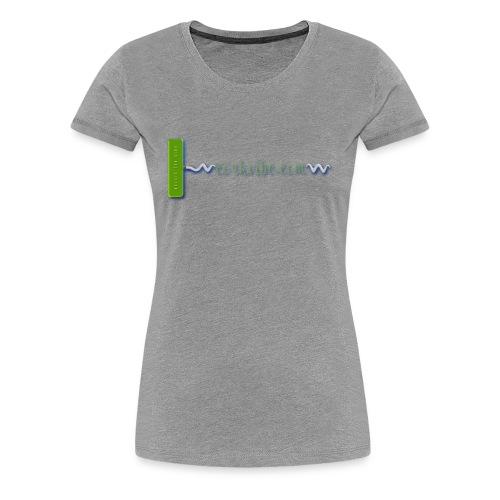 corkvibe Horizontal Logo - Women's Premium T-Shirt