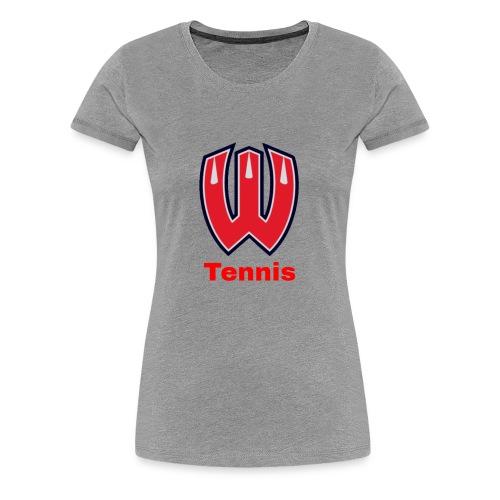 Westview High School Tennis (Red Lettering) - Women's Premium T-Shirt
