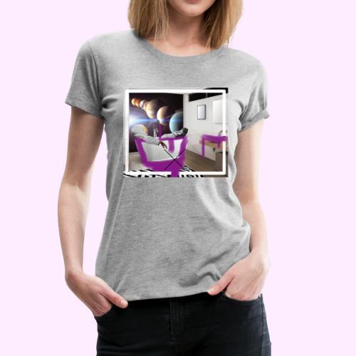 Space Man in Tub - Women's Premium T-Shirt