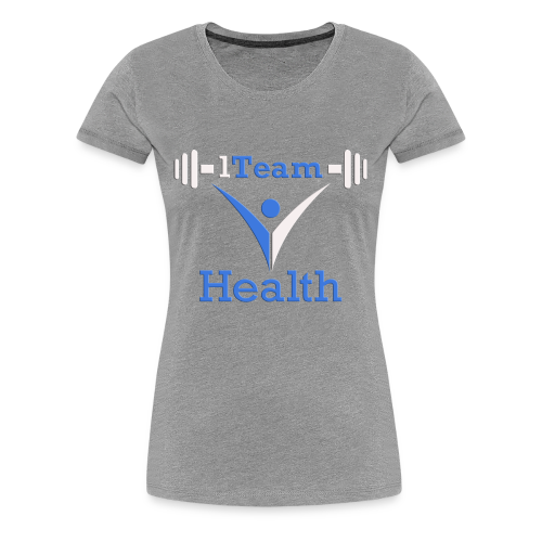 1TH - Blue and White - Women's Premium T-Shirt