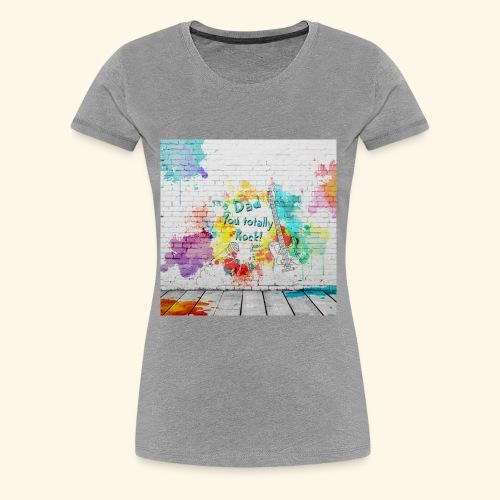 Dad Rocks - Women's Premium T-Shirt