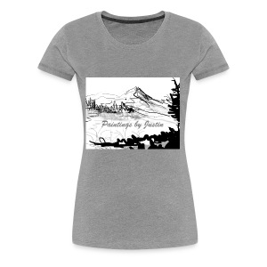 paintings by Justin - Women's Premium T-Shirt