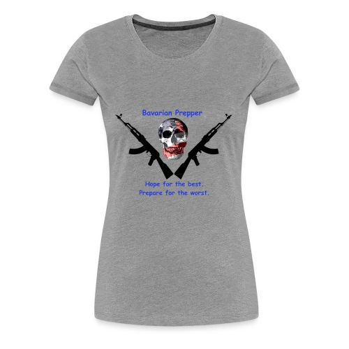 Flag Skull - Women's Premium T-Shirt