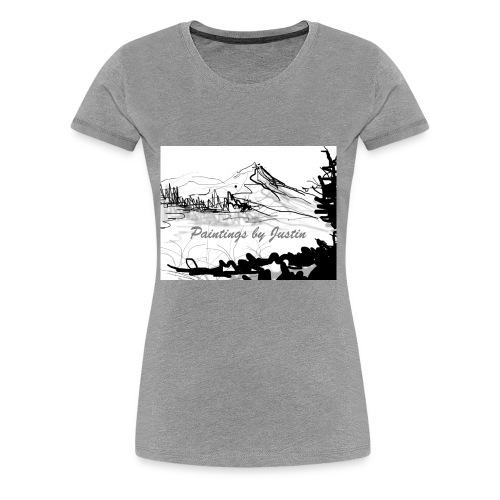 paintings by Justin - Women's Premium T-Shirt