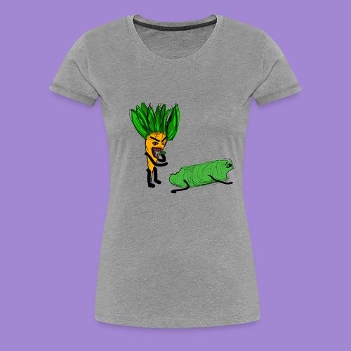 carrot eating a cucumber - Women's Premium T-Shirt
