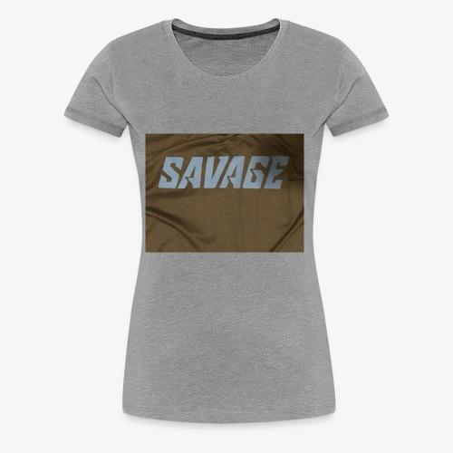 Black and blue savage merch - Women's Premium T-Shirt