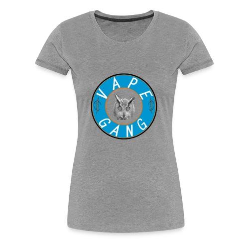 VapeGang Blue Logo - Women's Premium T-Shirt