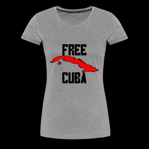 Free Cuba Red - Women's Premium T-Shirt