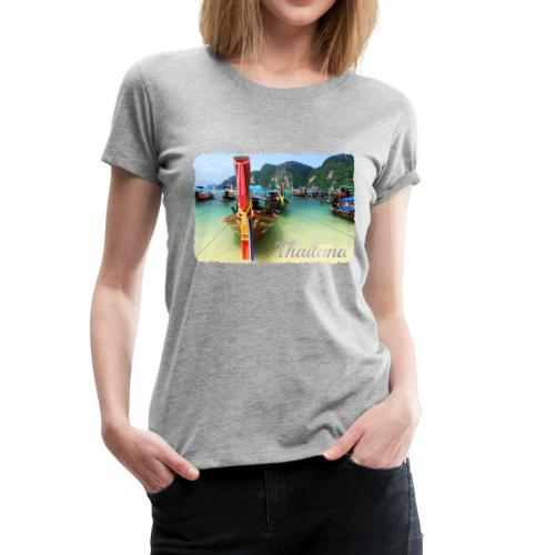 Thailand, Longtail Boats - Women's Premium T-Shirt