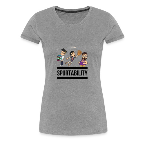 Spurtability Black Text - Women's Premium T-Shirt