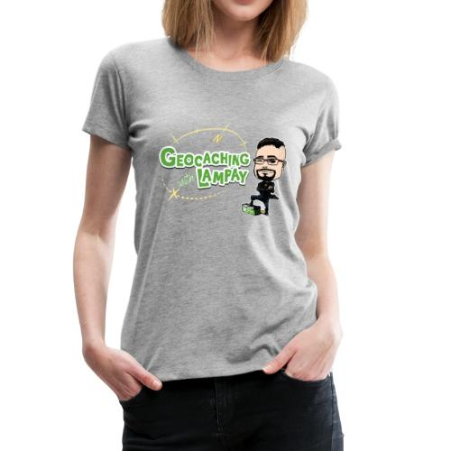 Geocaching With Lampay logo - Women's Premium T-Shirt
