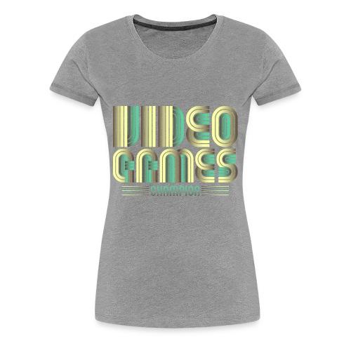Video Games Champion Logo Symbol - Women's Premium T-Shirt