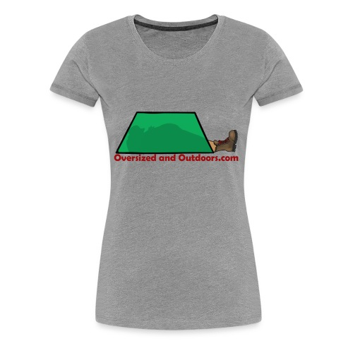 Oversized and Outdoors Logo - Women's Premium T-Shirt
