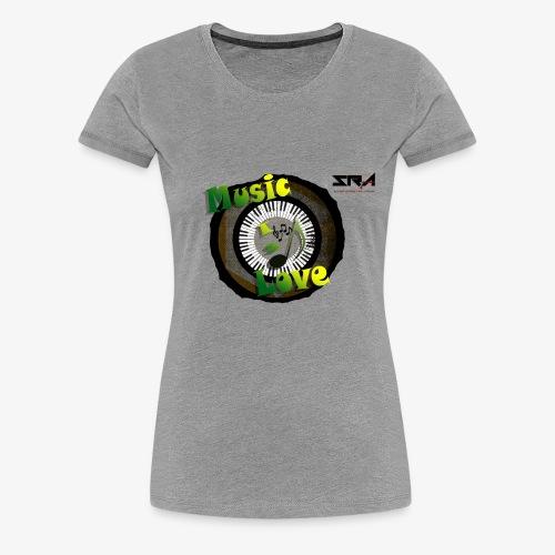 Music Is Love - Women's Premium T-Shirt