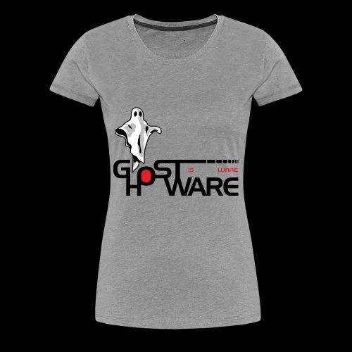 Ghostware Wide Logo - Women's Premium T-Shirt
