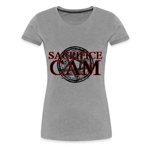 Sacrifice Cam Logo (Red outlines) - Women's Premium T-Shirt