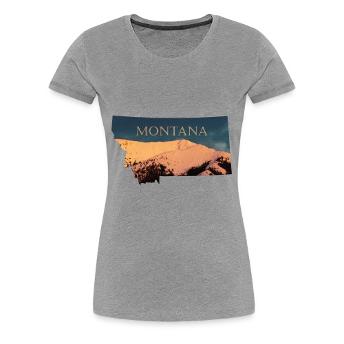 Swan Mountain Range Watercolor - Women's Premium T-Shirt
