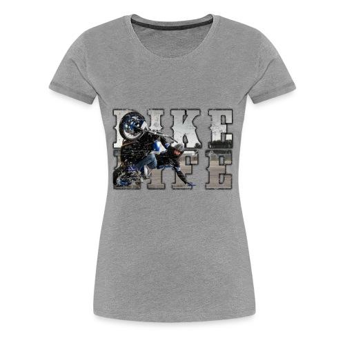 bike life phototext scratch desing - Women's Premium T-Shirt