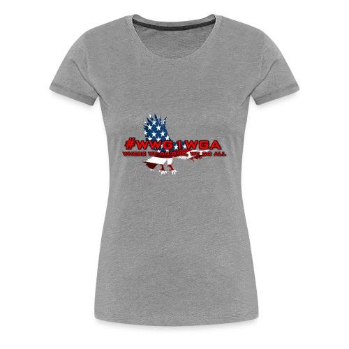 WWG1WGA EAGLE - REDLETTERING/BLACK OUTLINE - Women's Premium T-Shirt