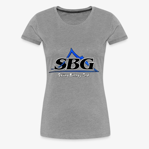 Skiing Biology God - Women's Premium T-Shirt