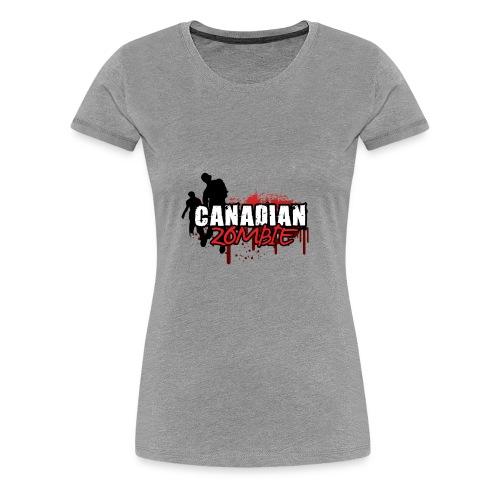 Canadian Zombie - Women's Premium T-Shirt