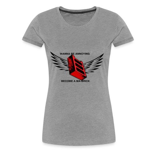 ma-brick parody merch - Women's Premium T-Shirt