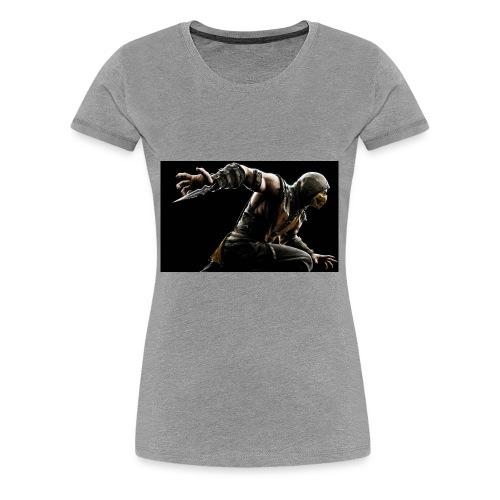 mortal kombat x scorpion wide - Women's Premium T-Shirt