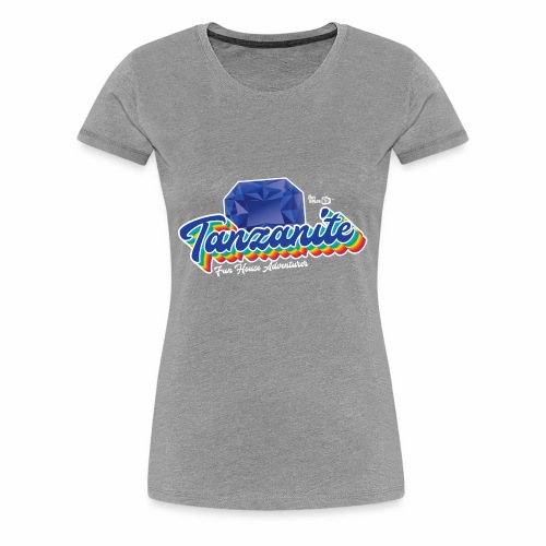 Tanzanite Birthstone Gem - Women's Premium T-Shirt