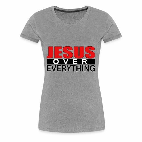 jesus over everything logo5 - Women's Premium T-Shirt