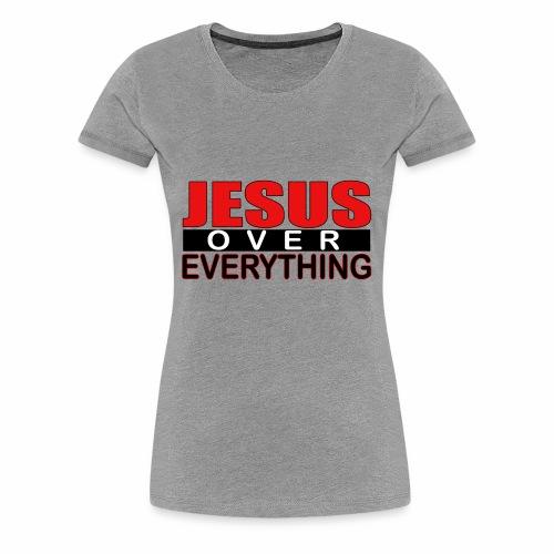 jesus over everything logo6 - Women's Premium T-Shirt