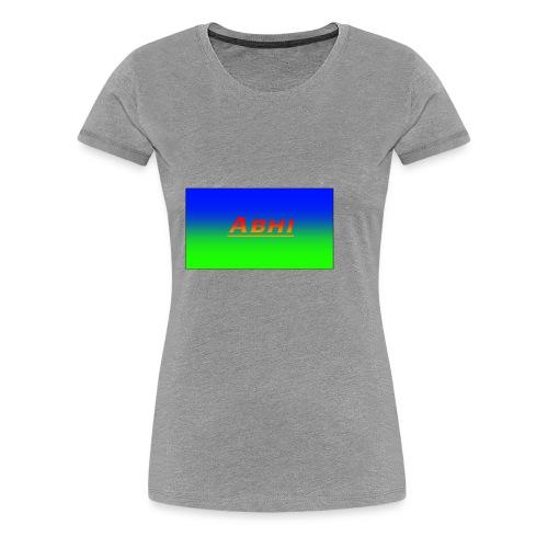 Oficial Abhi Merch (in mixed logo) - Women's Premium T-Shirt