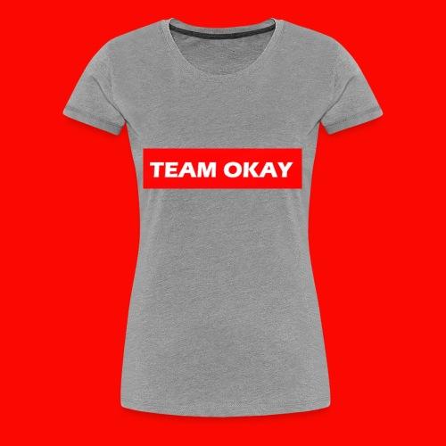 TEAM OKAY UNORIGINAL BOX LOGO - Women's Premium T-Shirt