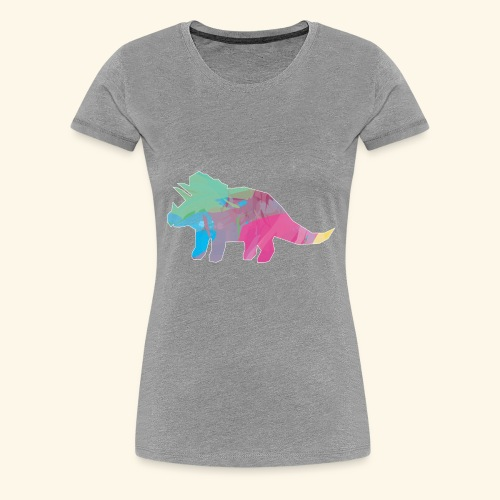 Triceratops color dinosaur - Women's Premium T-Shirt
