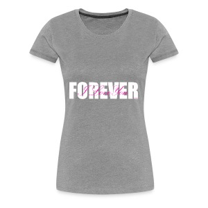 I LOVE YOU FOREVER Pink and White - Women's Premium T-Shirt