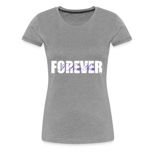 I LOVE YOU FOREVER Blue and White - Women's Premium T-Shirt