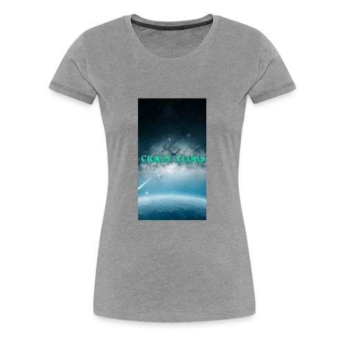 CRAZE VLOGS COVRS For iPhone 8 - Women's Premium T-Shirt