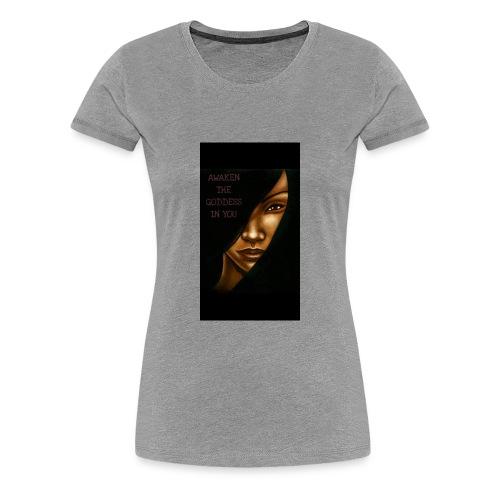 just being a goddess - Women's Premium T-Shirt