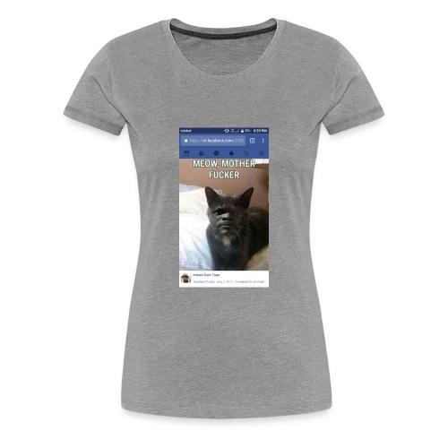 Meow Mother Fker Cat Pulp Fiction parody - Women's Premium T-Shirt