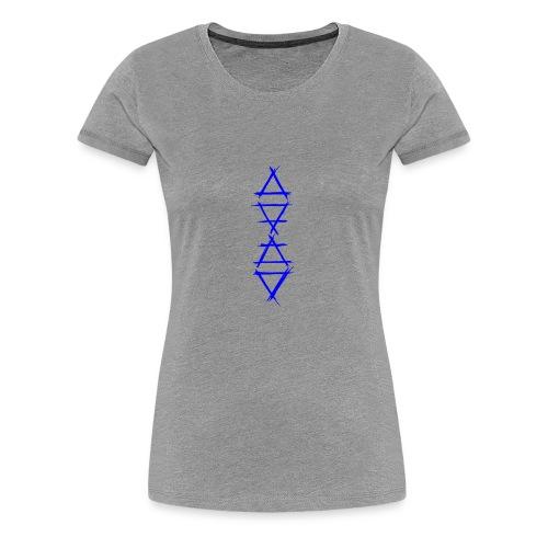 Alchemy symbol 4 elements blue - Women's Premium T-Shirt