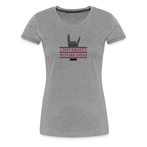 University of Gnarkansas Logo - Women's Premium T-Shirt