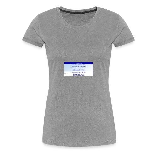 Big Sign Design 1 - Women's Premium T-Shirt