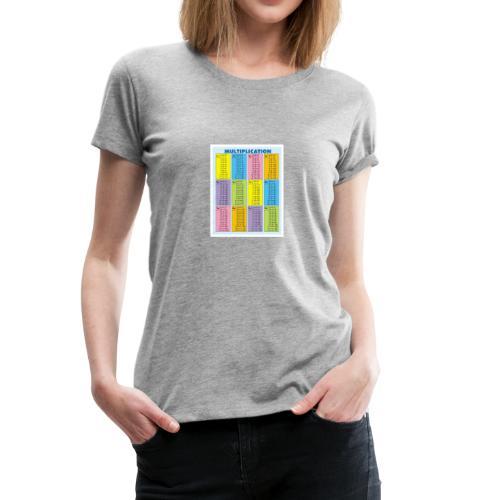Multiplication Chart - Women's Premium T-Shirt