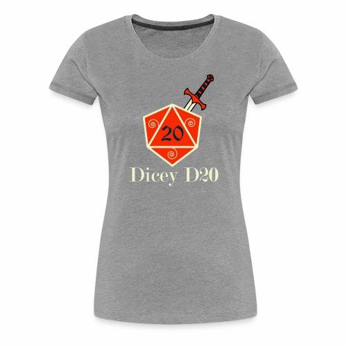 Dicey D20 Large Logo - Women's Premium T-Shirt