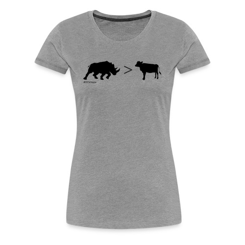 RhinoGTCow BlackTransparent - Women's Premium T-Shirt