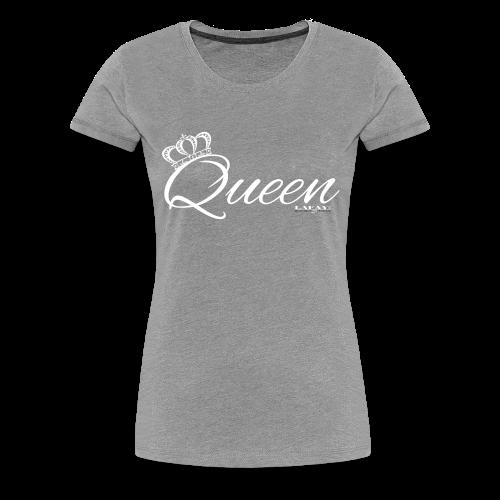 Queen white letters - Women's Premium T-Shirt